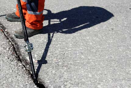 asphalt crack repair in portland OR gresham tualatin by Hal's Construction
