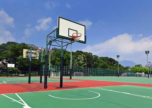 Outdoor Basketball Court Construction Portland Oregon